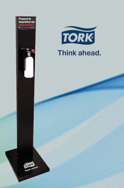 użyczenie stojaka do dezynfekcji tork